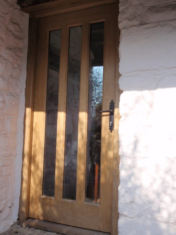 Exterior Door Narrow Glass Panels Artisan Projects