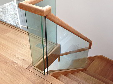 Wood Glass Stairs